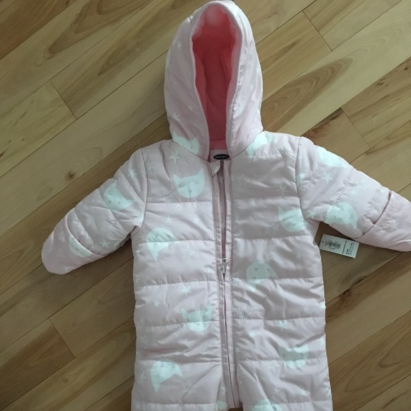 9f927254a Old Navy Jackets & Coats | Size 36months Baby Girl Fleece Snow Suit ...